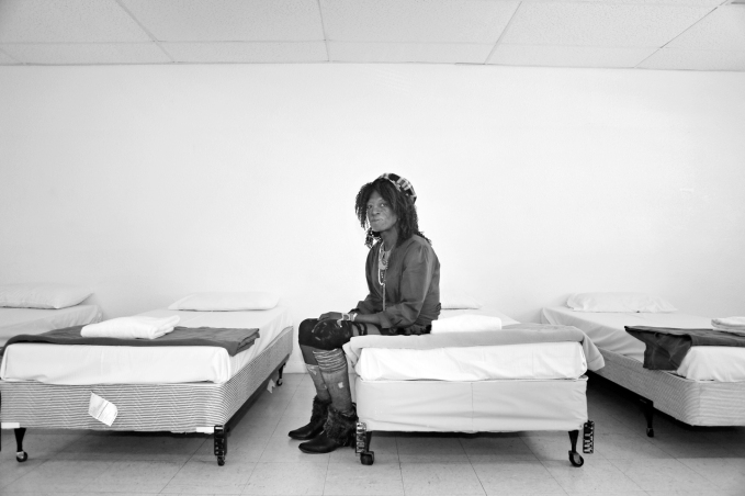 Michael sits on the edge of a bed in the Safety Dorm for transgendered individuals at The Salvation Army Tuesday, Oct. 13, 2015, in Las Vegas. Michael spent three months in the Safety Dorm prior to getting his own transitional apartment on campus. The Safety Dorm's purpose is to ensure the safety and wellbeing of transgendered individuals who come through the shelter. (Ronda Churchill/Las Vegas Review-Journal)